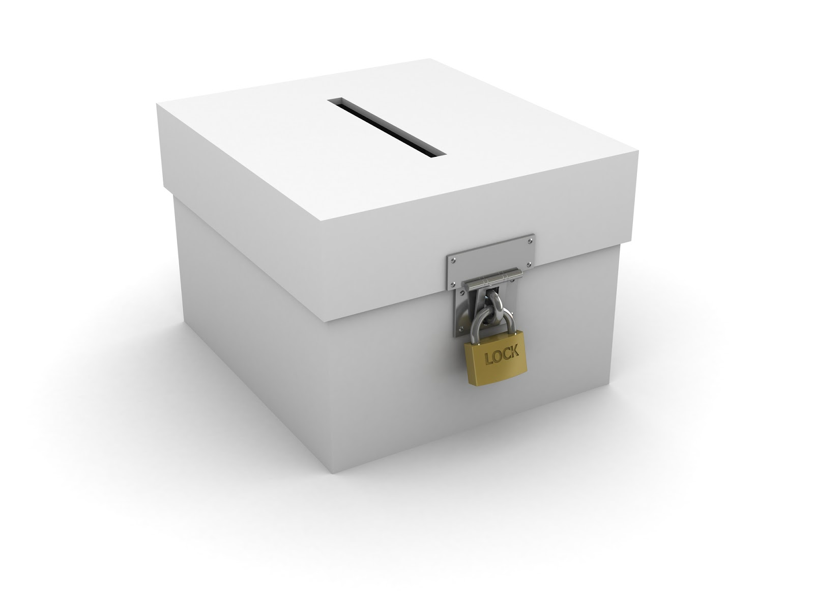 Concept Box Isolated On White Background